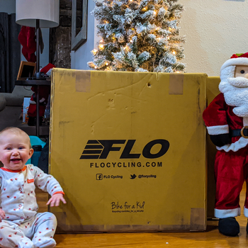 Someone is excited about new FLO wheels!