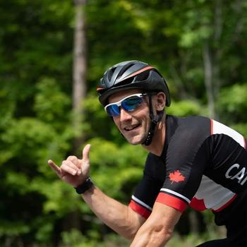Training ride in Lake Placid after taking down a KOM on the Ironman bike course