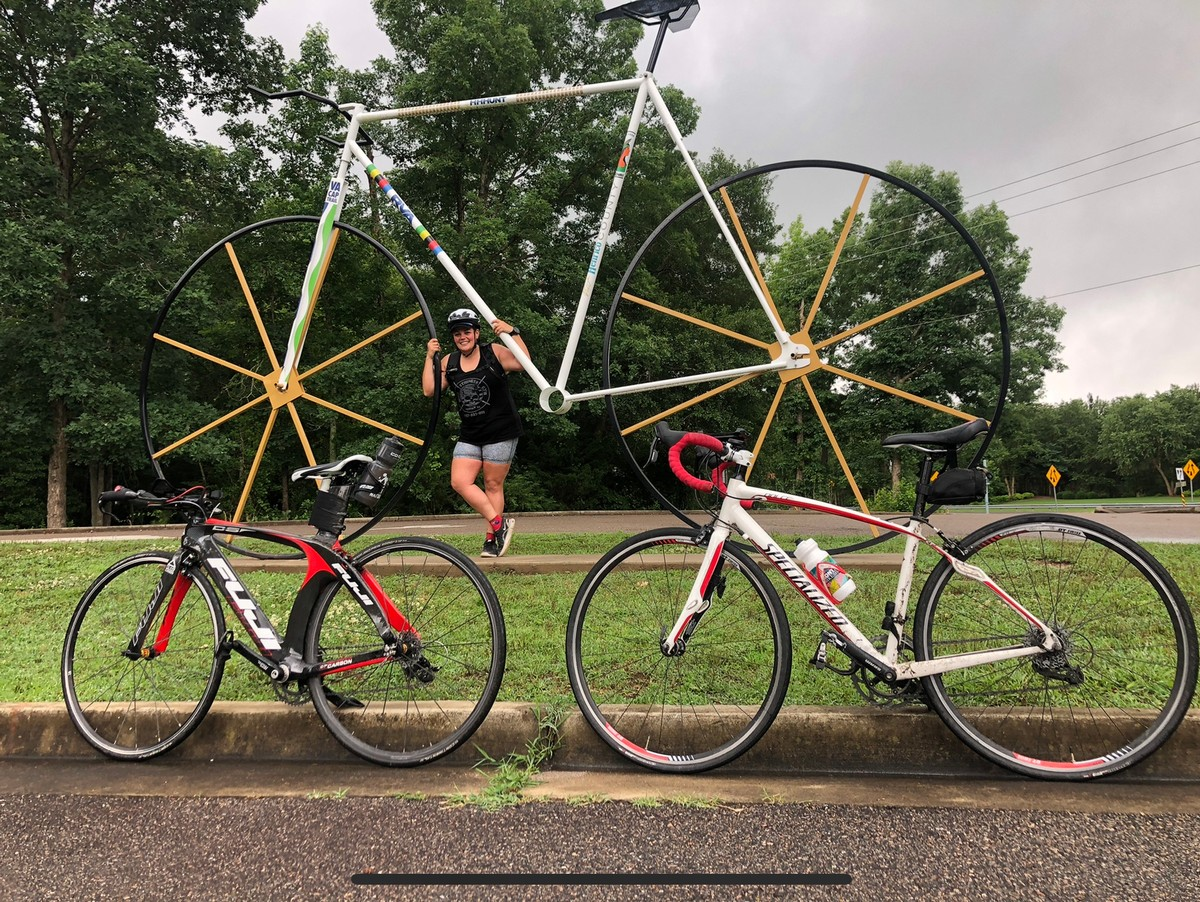 Big bike on the Virginia Capital Trail