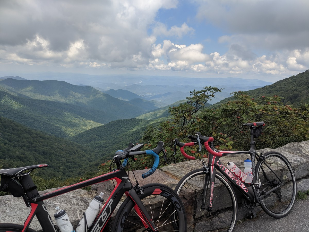 A shot from a recent trip to Ashville, NC on the Blue Ridge Parkway. Epic place to ride.