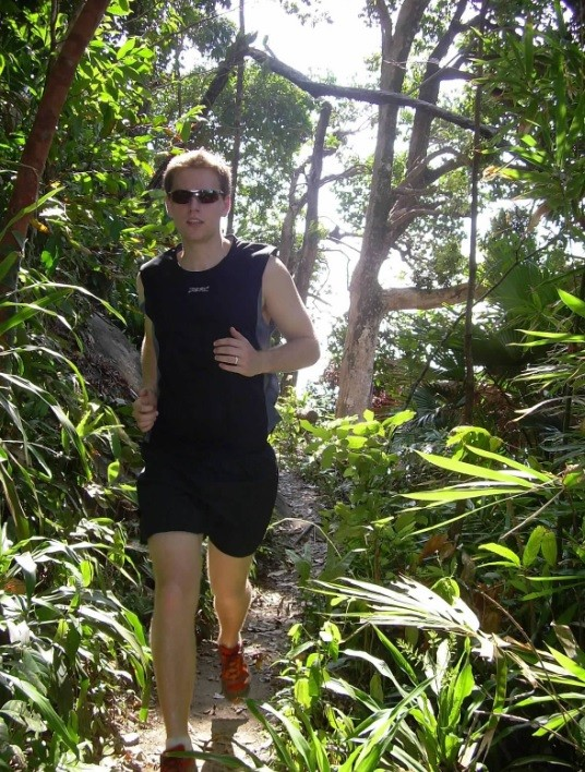 A trail run in Thailand. Watch out for golden silk orb-weaving spiders (the size of your face!).